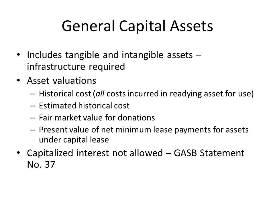 General Capital Assets