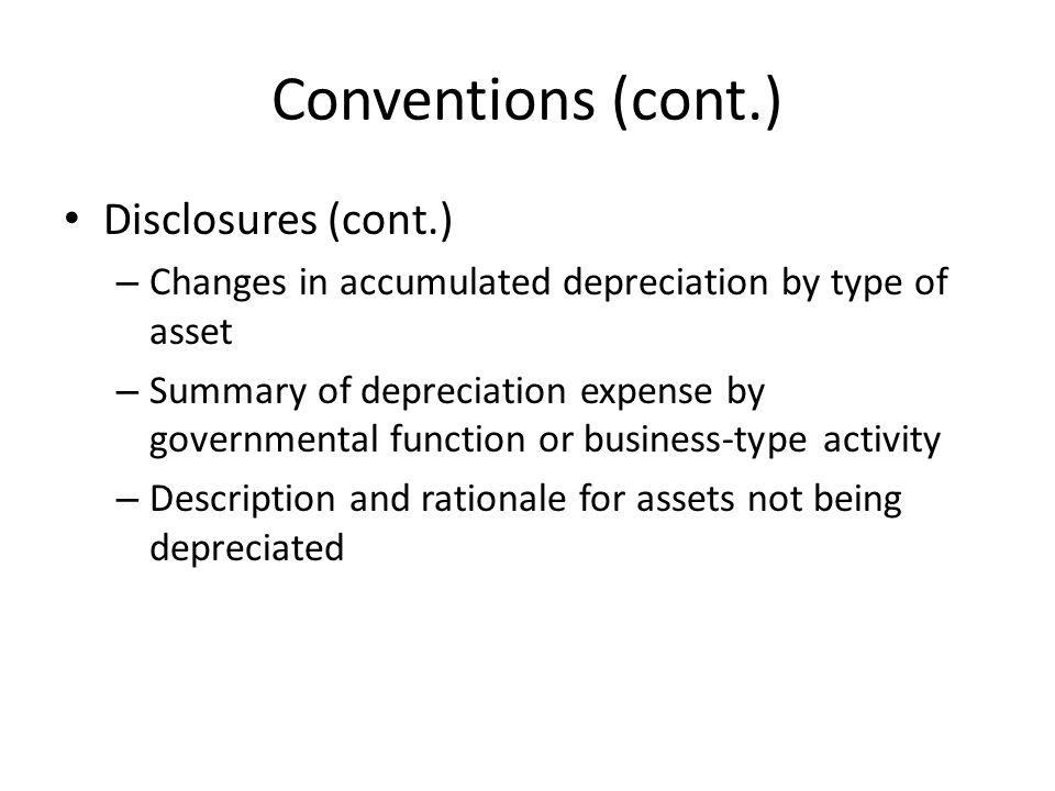 Conventions (cont.) Disclosures (cont.)