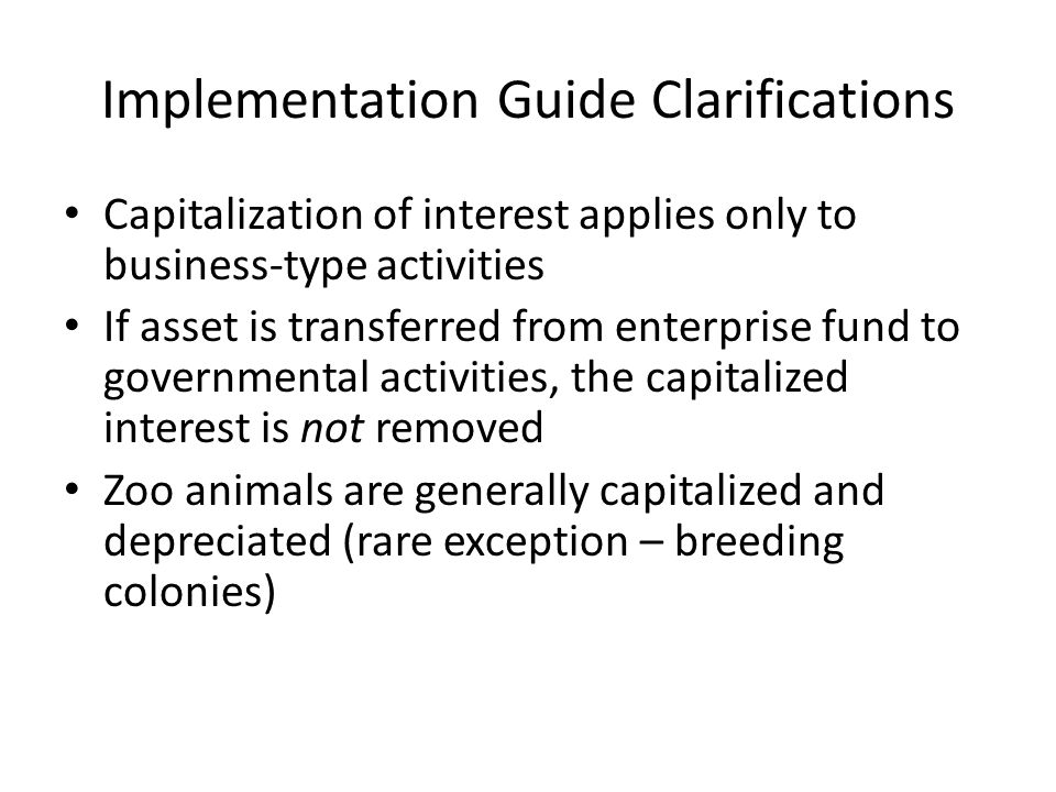 Implementation Guide Clarifications