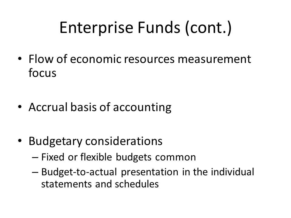 Enterprise Funds (cont.)