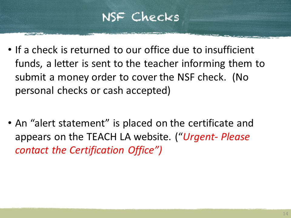 NSF Checks