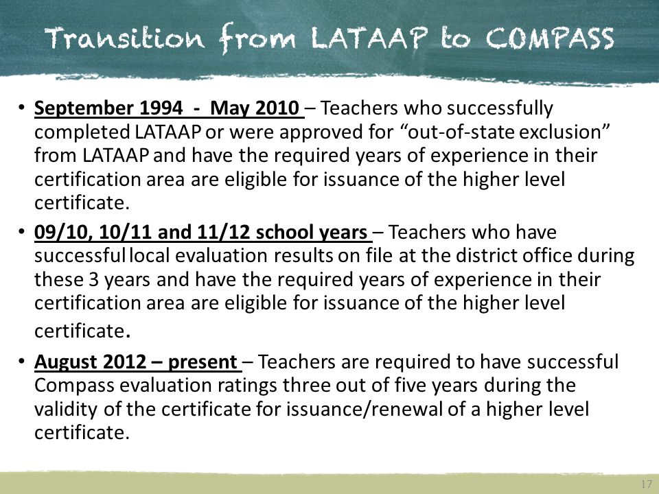 Transition from LATAAP to COMPASS
