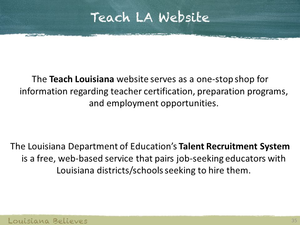 Teach LA Website