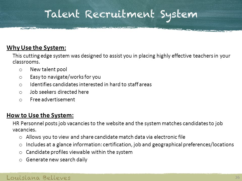 Talent Recruitment System