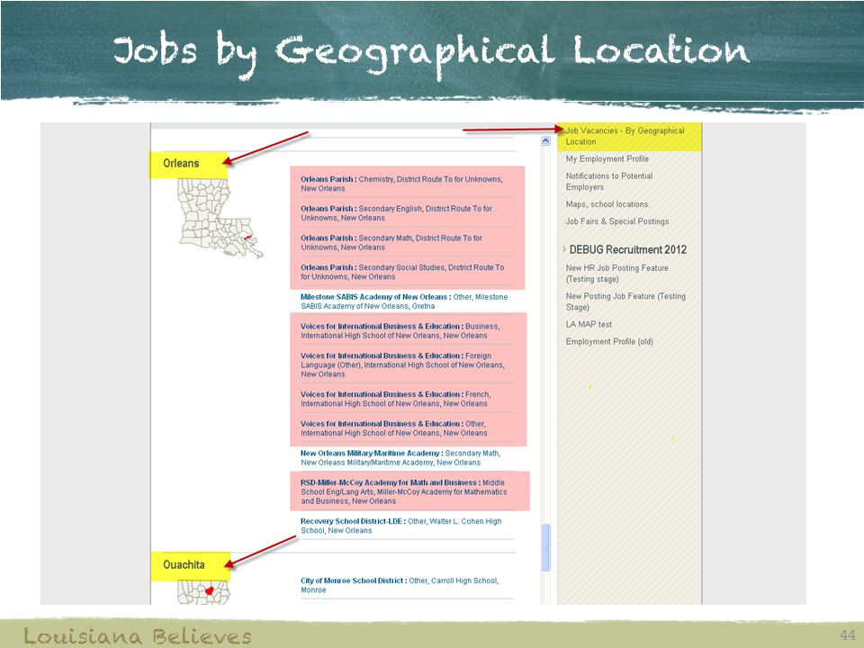Jobs by Geographical Location