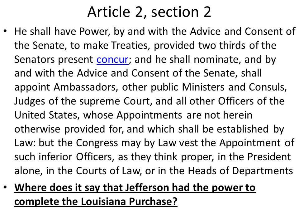 Article 2, section 2