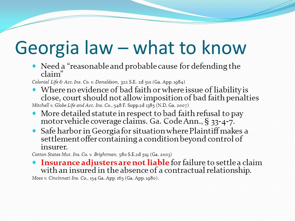 Georgia law – what to know