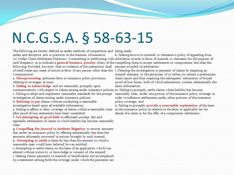N.C.G.S.A. § 58-63-15