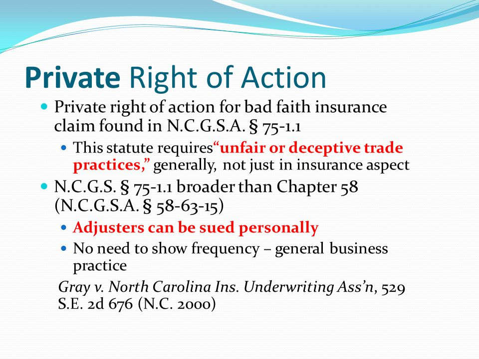 Private Right of Action