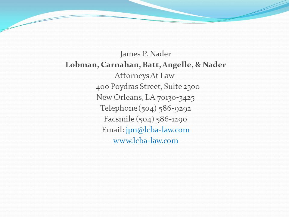 Lobman, Carnahan, Batt, Angelle, & Nader