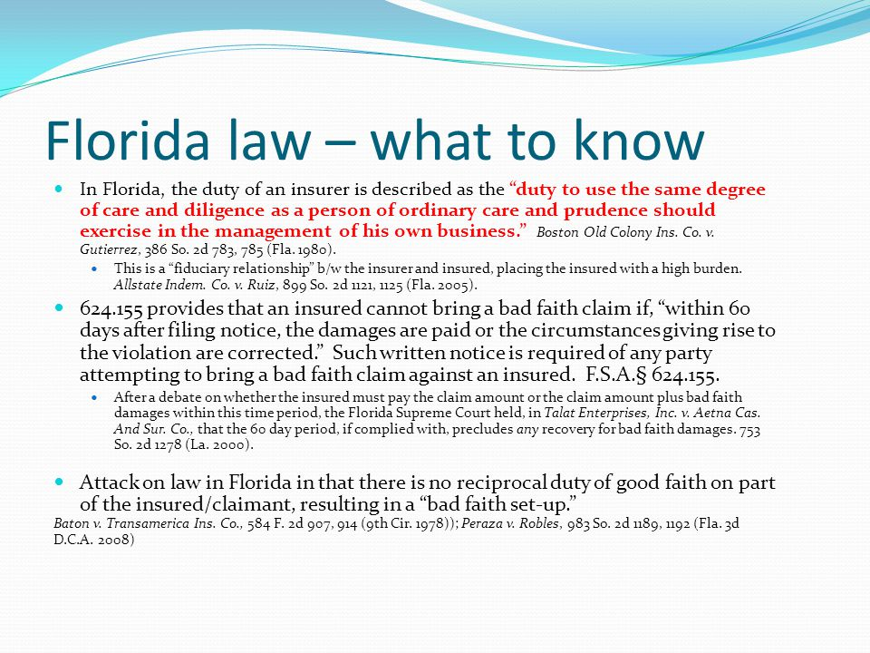 Florida law – what to know