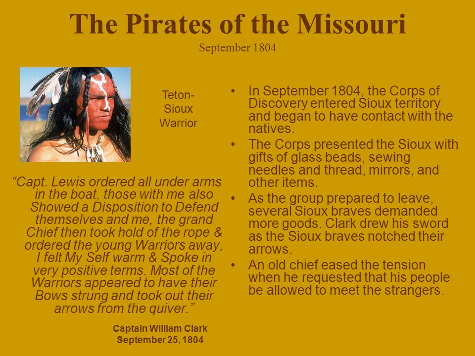 The Pirates of the Missouri September 1804