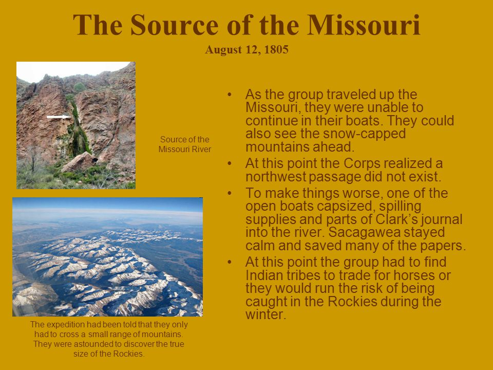 The Source of the Missouri August 12, 1805