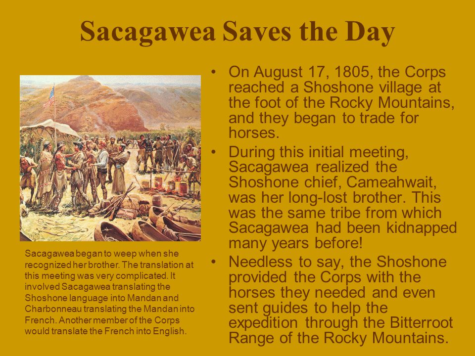 Sacagawea Saves the Day