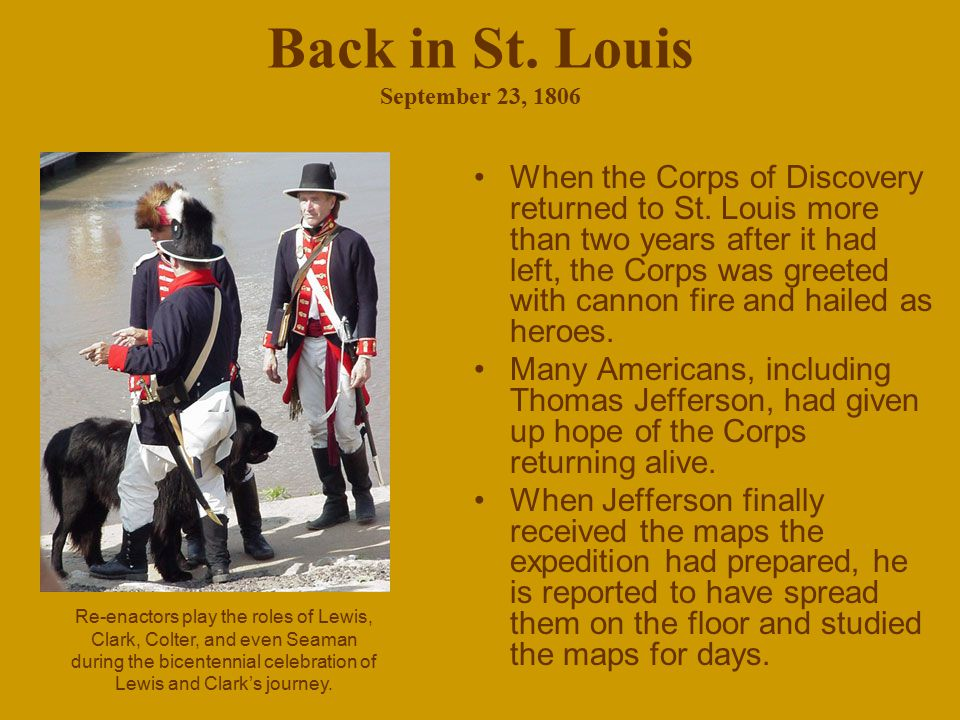 Back in St. Louis September 23, 1806