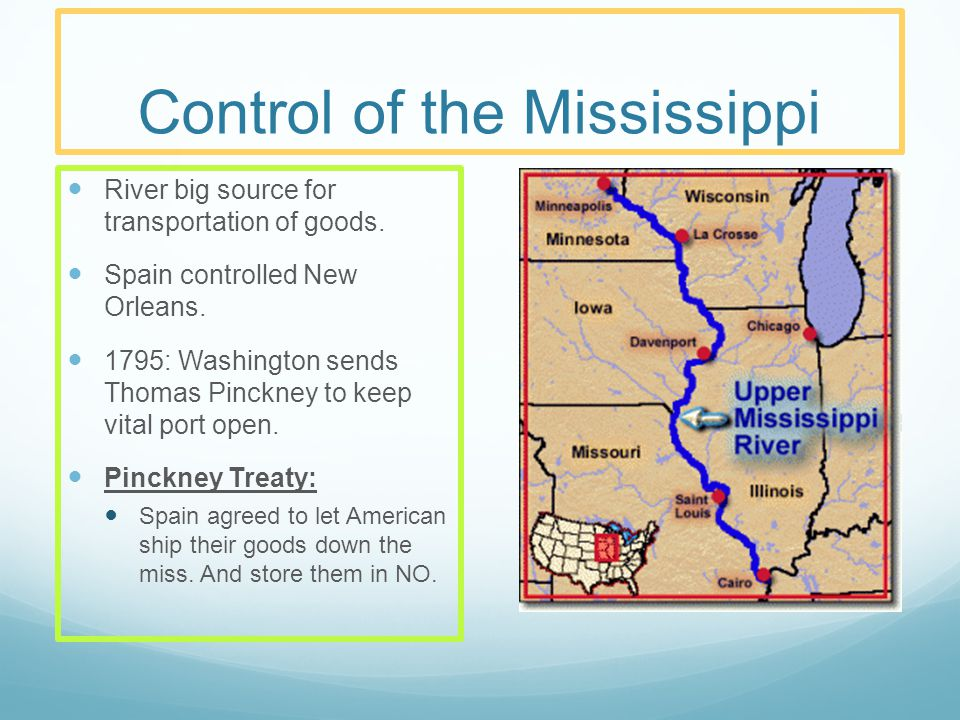 Control of the Mississippi