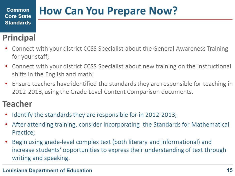 How Can You Prepare Now Principal Teacher