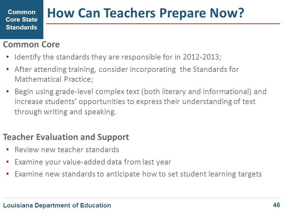 How Can Teachers Prepare Now