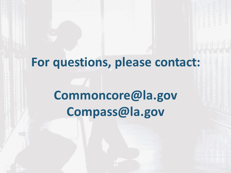 For questions, please contact: