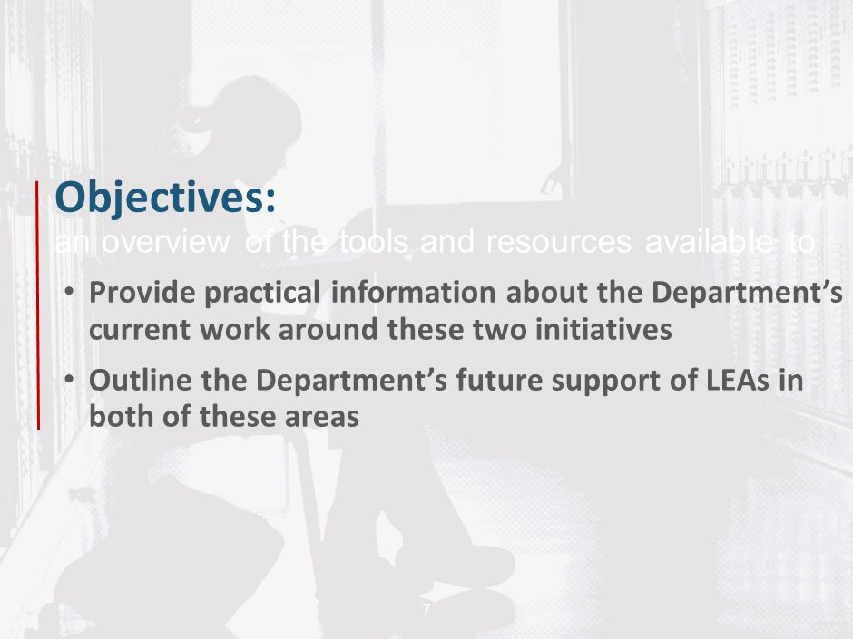 Objectives: an overview of the tools and resources available to