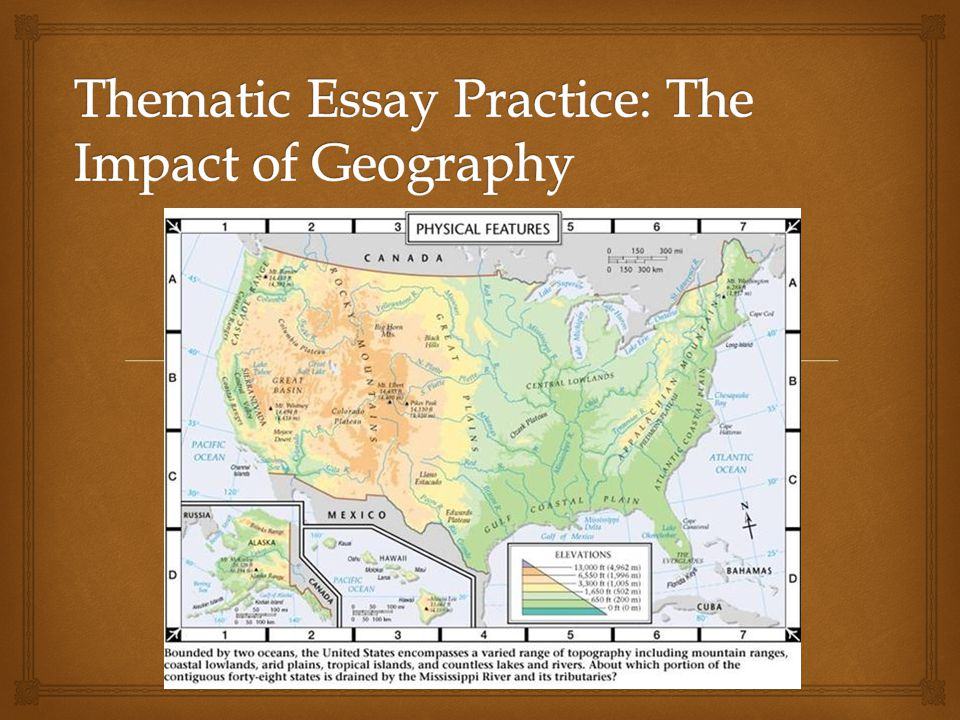 geography themes essay