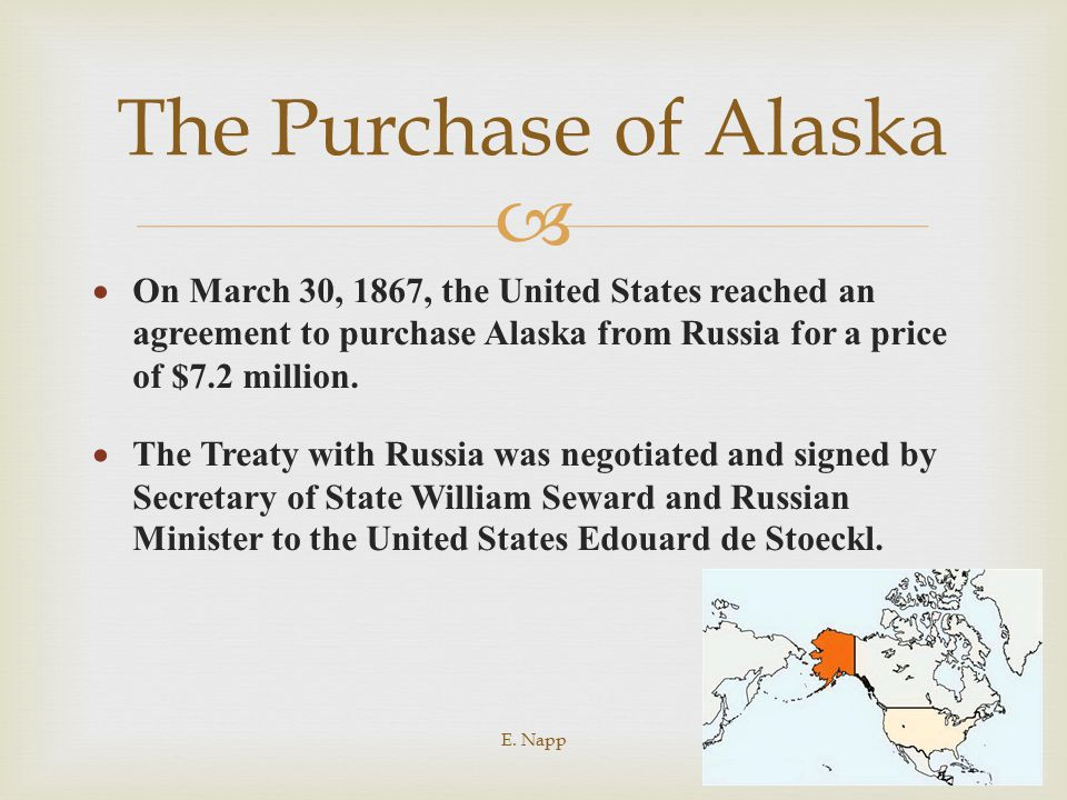 purchase of alaska essay