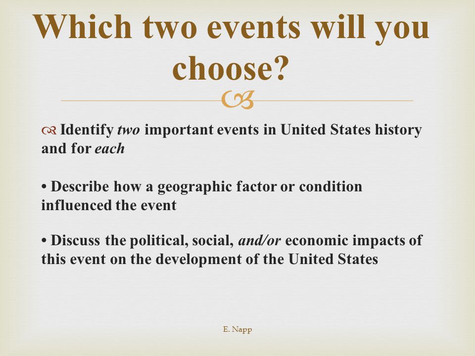 Which two events will you choose