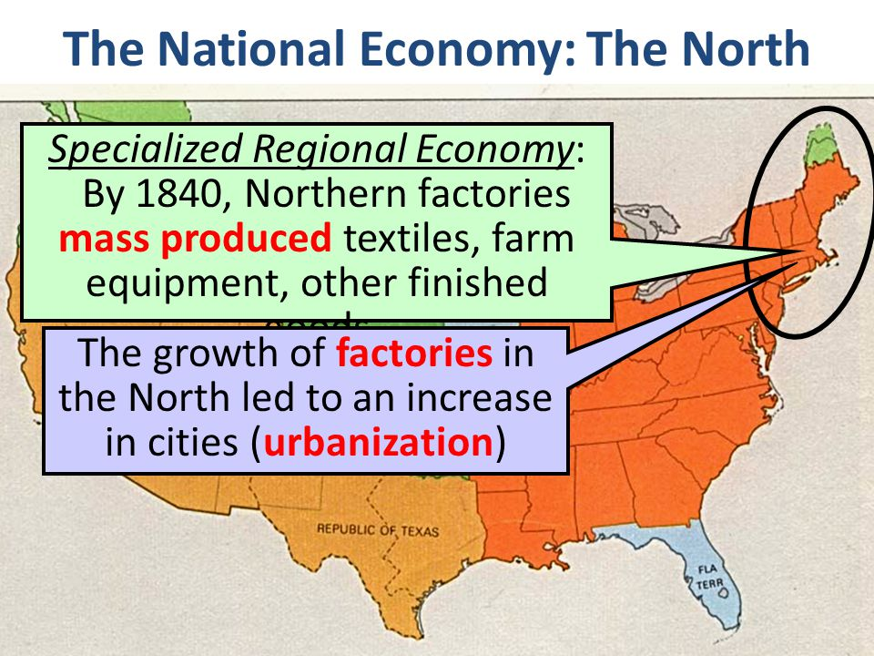 The National Economy: The North