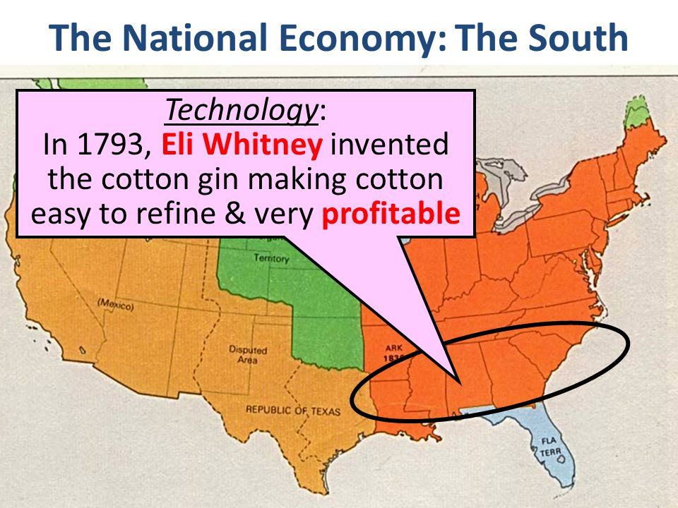 The National Economy: The South