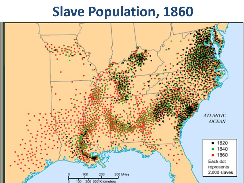 Slave Population, 1820 Slave Population, 1860