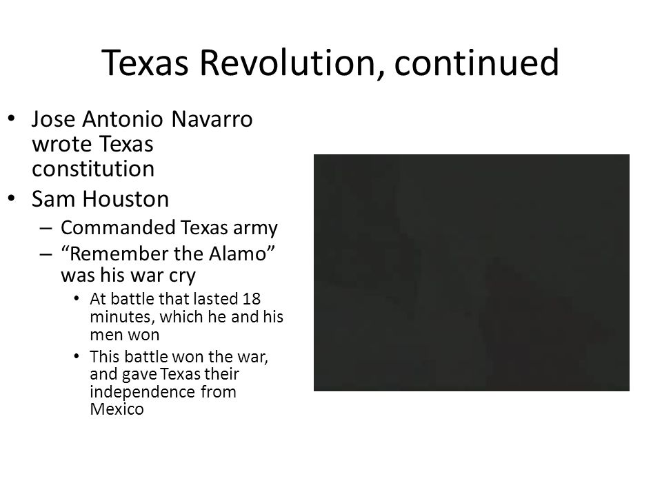 Texas Revolution, continued