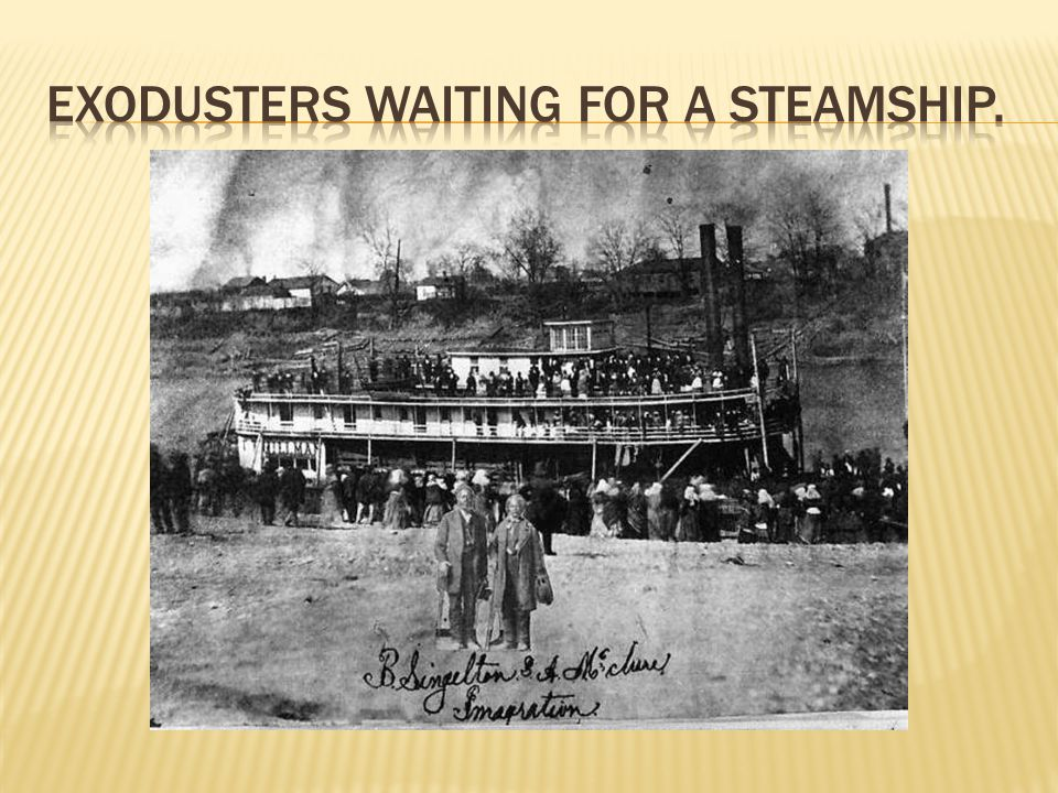 Exodusters waiting for a steamship.