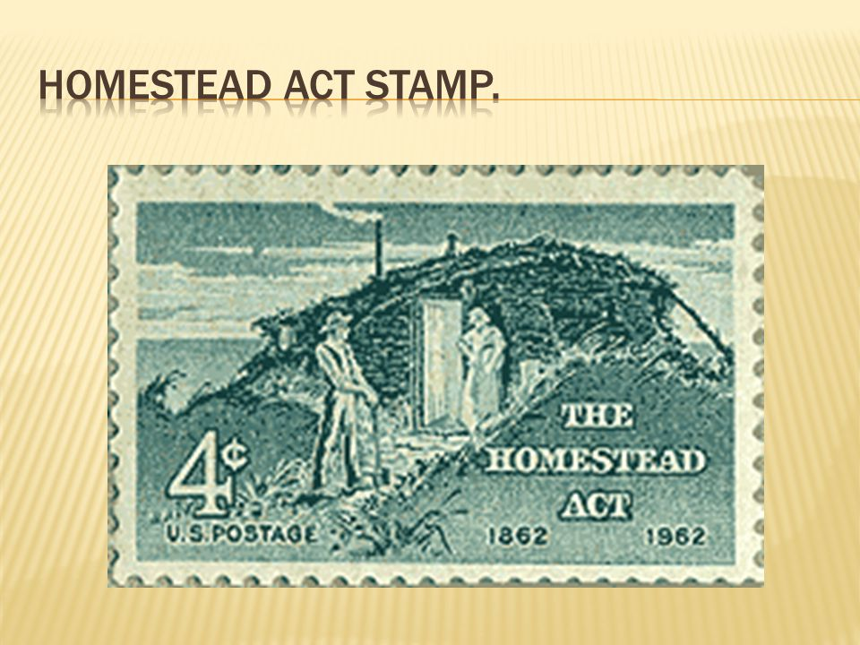 Homestead Act Stamp.