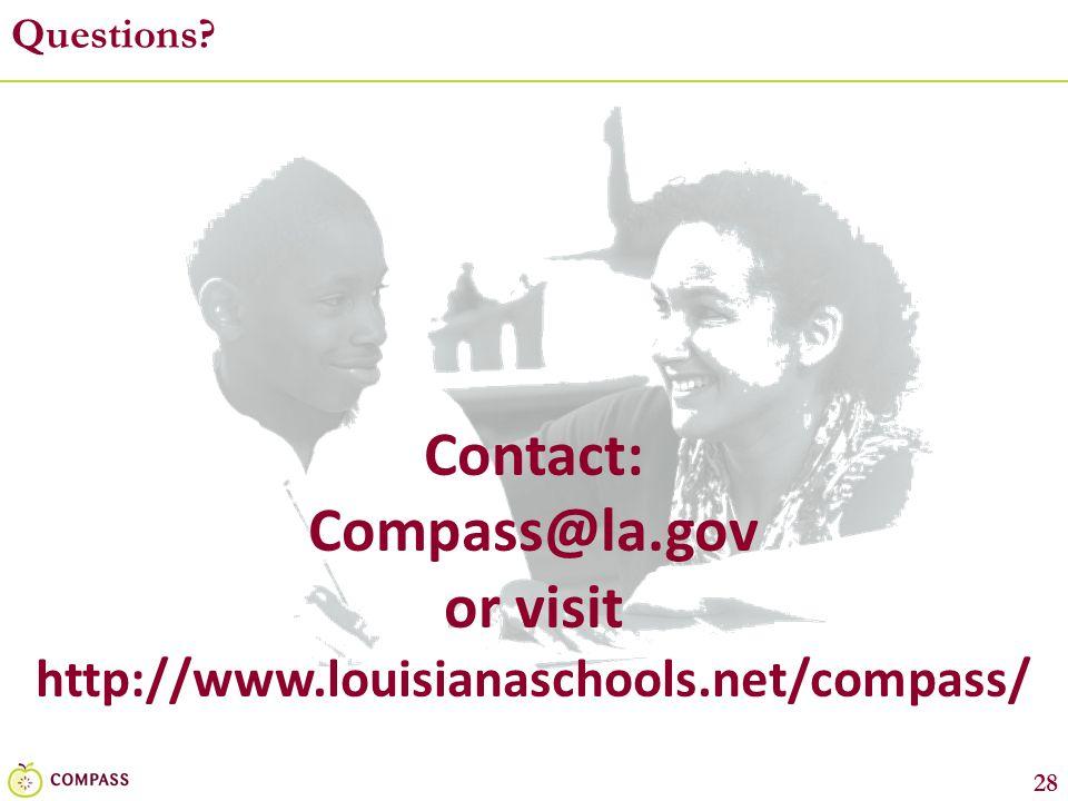 Contact: Compass@la.gov or visit
