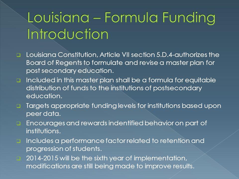 Louisiana – Formula Funding Introduction