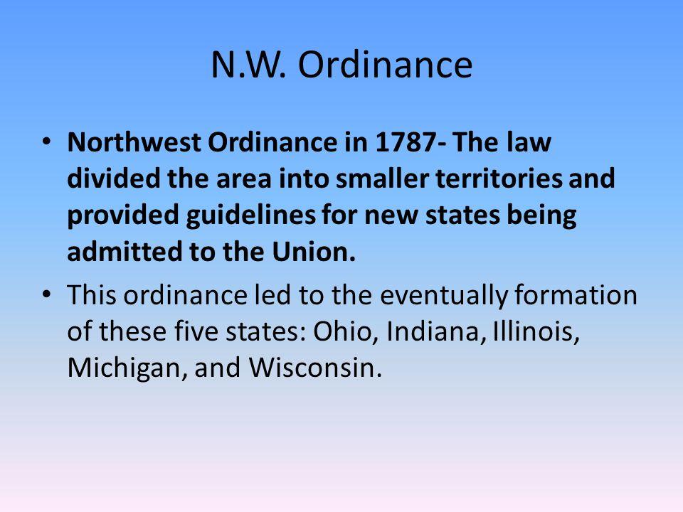 N.W. Ordinance