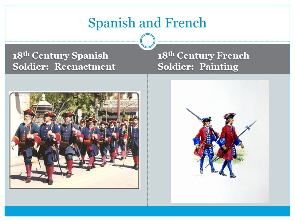 Spanish and French 18th Century Spanish Soldier: Reenactment
