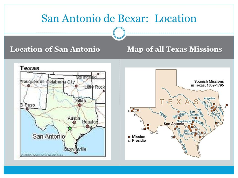San Antonio de Bexar: Location