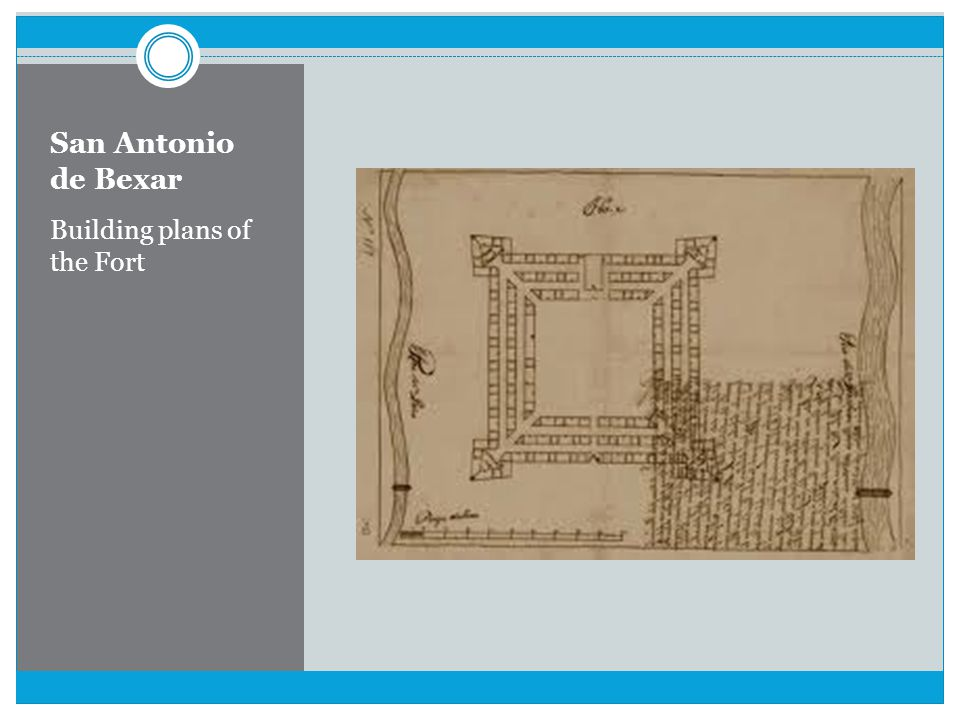 San Antonio de Bexar Building plans of the Fort