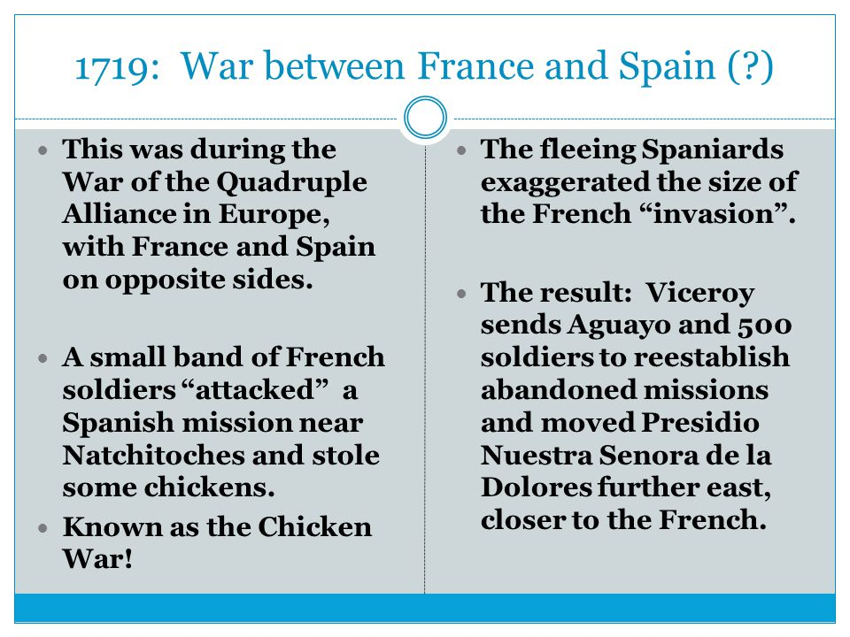 1719: War between France and Spain ( )