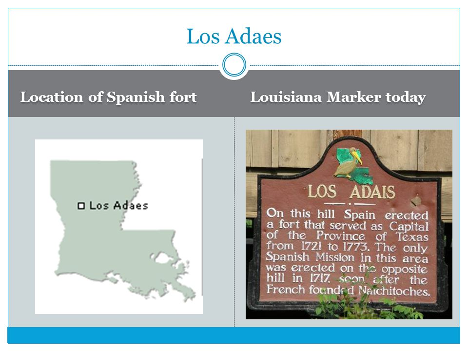 Los Adaes Location of Spanish fort Louisiana Marker today