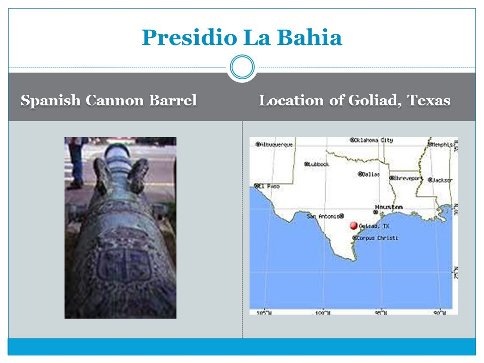 Presidio La Bahia Spanish Cannon Barrel Location of Goliad, Texas
