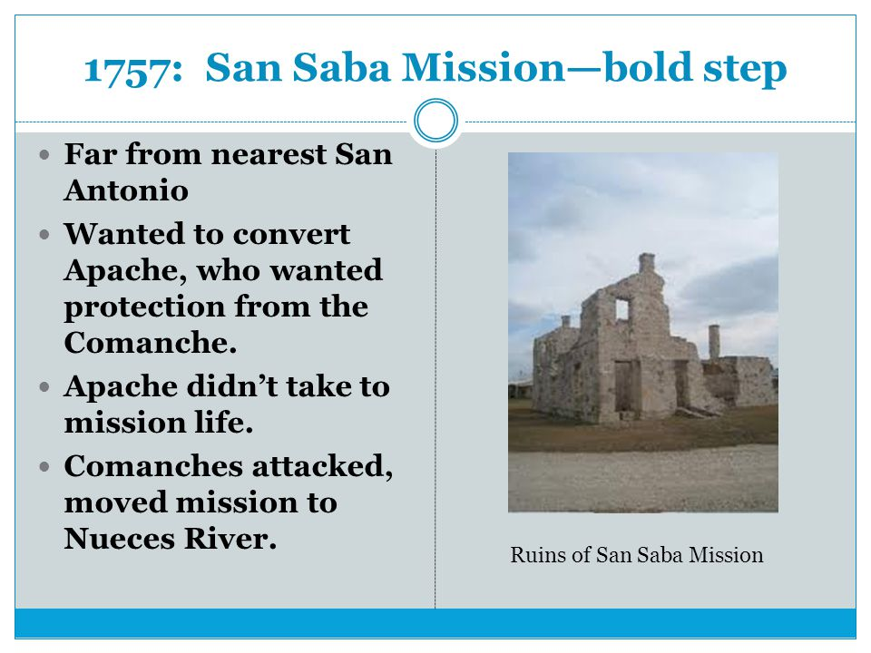1757: San Saba Mission—bold step