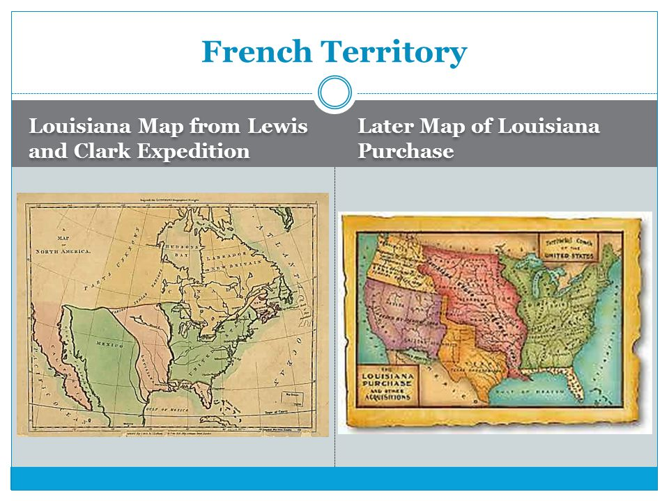 French Territory Louisiana Map from Lewis and Clark Expedition