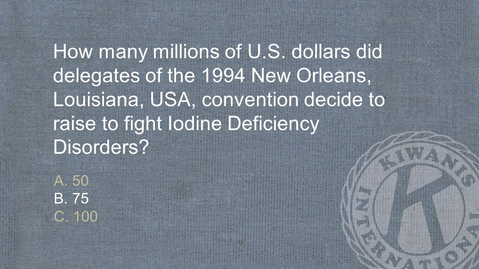 How many millions of U.S. dollars did delegates of the 1994 New Orleans, Louisiana, USA, convention decide to raise to fight Iodine Deficiency Disorders