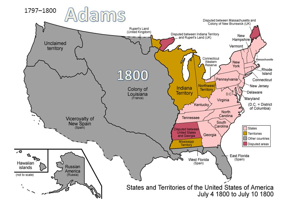 Adams 1797–1800 1800