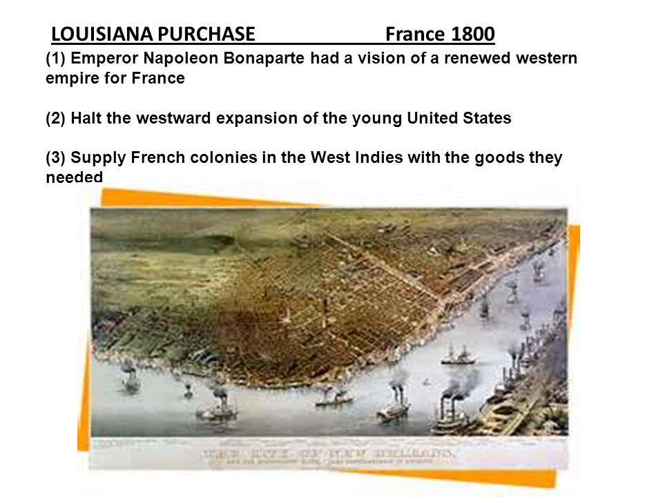 LOUISIANA PURCHASE France 1800