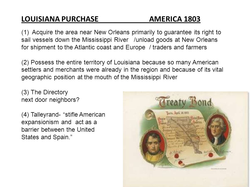 LOUISIANA PURCHASE AMERICA 1803