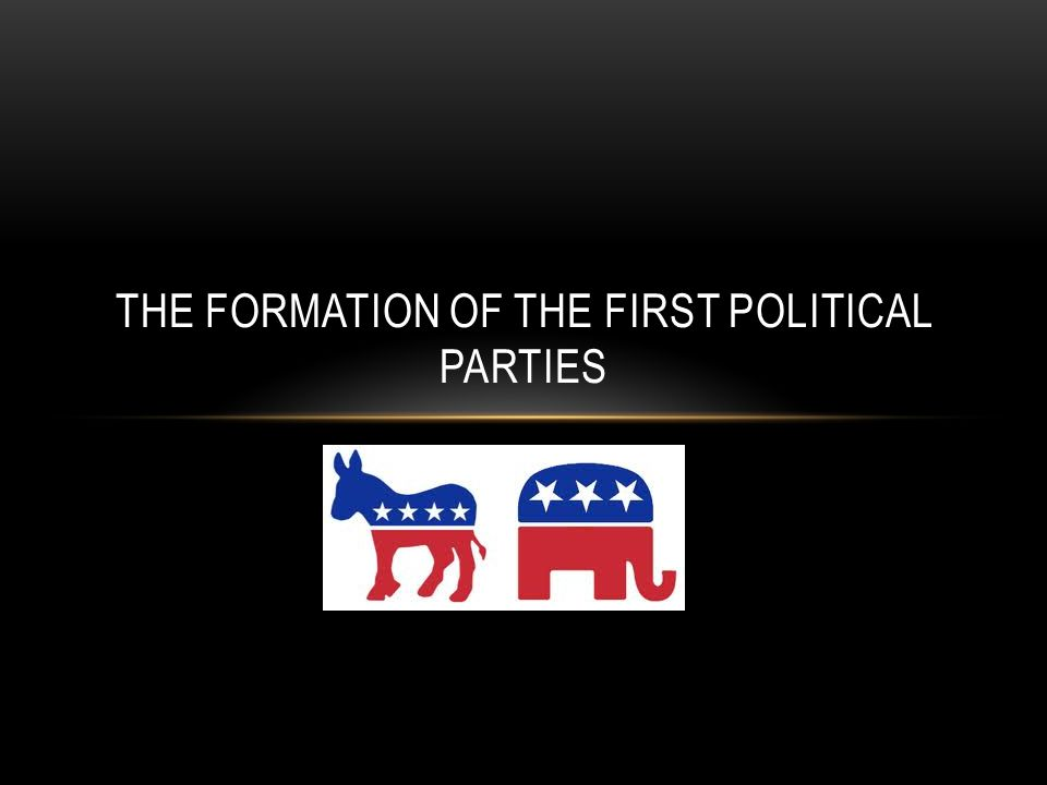 The Formation of the first Political Parties