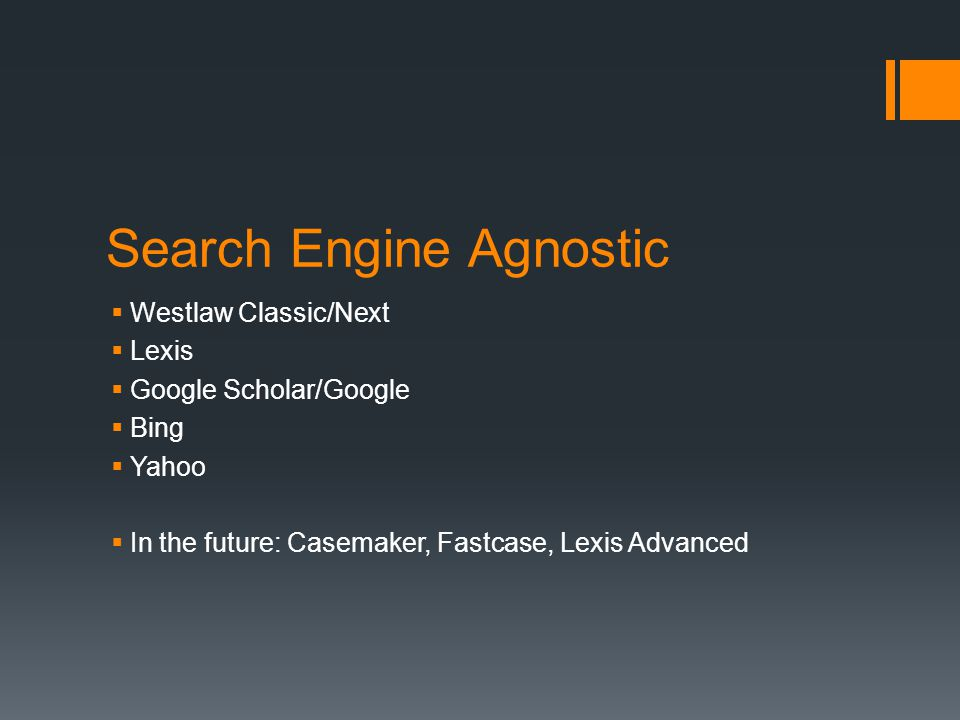 Search Engine Agnostic